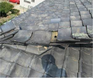 屋根材の倒壊
