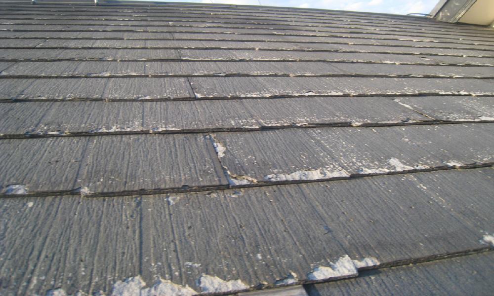 劣化したパミール屋根