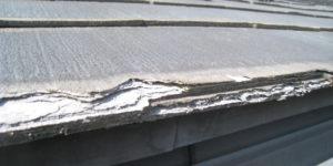 パミール屋根の層間剥離