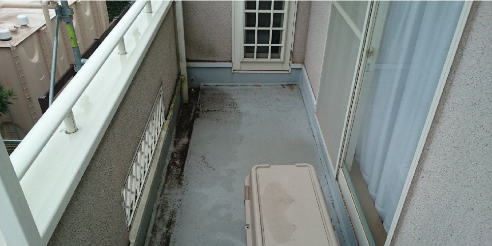 ベランダの雨漏り修理の写真