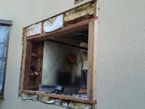 サッシの雨漏り修理の施工前