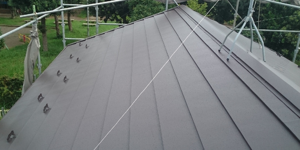 屋根板金(棟板金)の設置