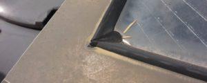 天窓の雨漏りのビートの補修