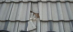 屋根瓦のひび割れ