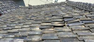 屋根瓦の全体的な浮き・ズレ