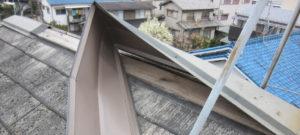 屋根板金の捲れ