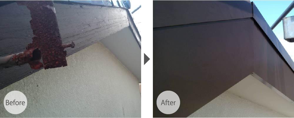 破風板修理の施工事例