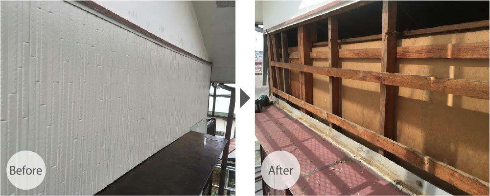 船橋市海神の屋根庇の修理の施工事例