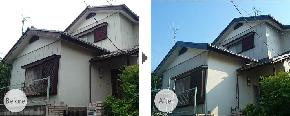 船橋市金杉の屋根破風板修理の施工事例
