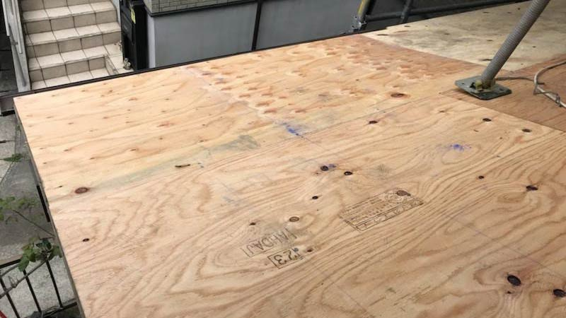 構造用合板の野地板