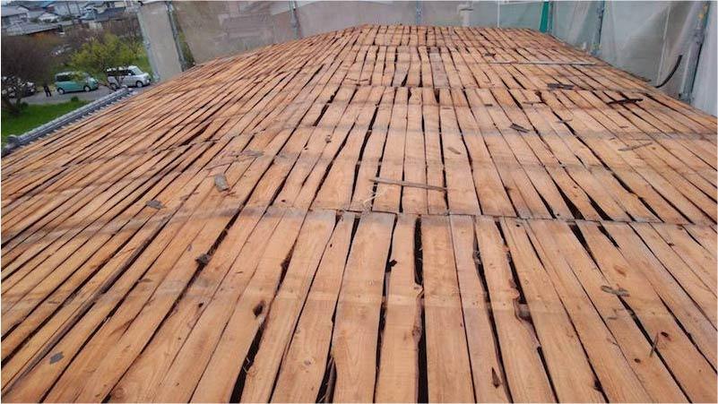 杉板の野地板